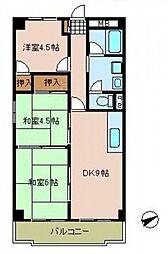 三沢ビル[4階]の間取り