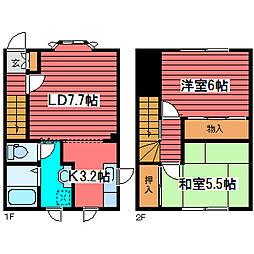 [テラスハウス] 北海道札幌市豊平区西岡一条3丁目 の賃貸【北海道 / 札幌市豊平区】の間取り