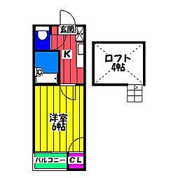 N&N竹下[1階]の間取り