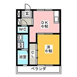 クレイン園[1階]の間取り