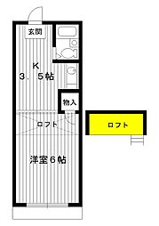 東京都練馬区早宮1丁目の賃貸アパートの間取り