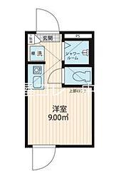 スマイエ北新宿 1階ワンルームの間取り