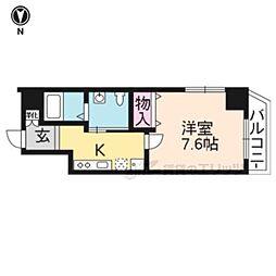 K・CASA大宮 2階1Kの間取り