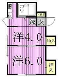 三田荘[201号室]の間取り