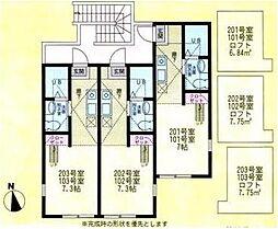 ハーミットクラブハウス戸塚C棟[2階]の間取り