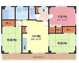 埼玉県さいたま市緑区大間木の賃貸マンションの間取り