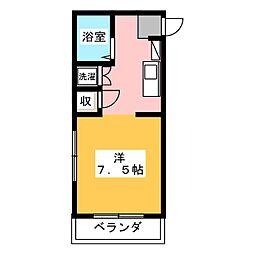 メイプル安東[1階]の間取り