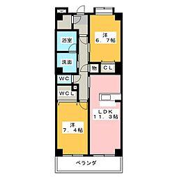 KANARE BLD[6階]の間取り
