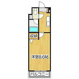 ヴィヨーム京都丹波橋[4-D号室]の間取り