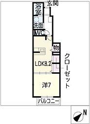 バードマウンテン古宿[1階]の間取り