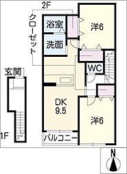 ダンディライオンA棟[2階]の間取り