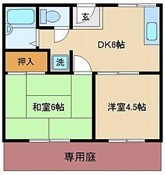 サニーコート泉佐野[1階]の間取り