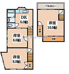 [一戸建] 大阪府大阪市生野区林寺2丁目 の賃貸【/】の間取り