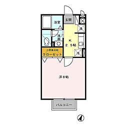 セジュールM3[2階]の間取り