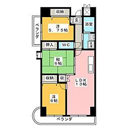 テレスハラ[3階]の間取り