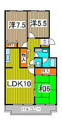 サンハイツ浦和[2階]の間取り