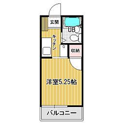 ハイツOM-1[203号室]の間取り