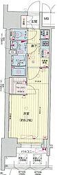 名古屋市営東山線 亀島駅 徒歩5分の賃貸マンション 9階1Kの間取り