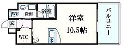 広島電鉄5系統 段原一丁目駅 徒歩21分の賃貸マンション 5階ワンルームの間取り