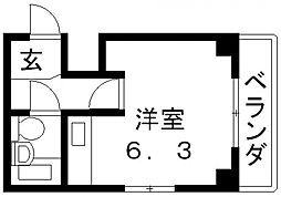 Vie八戸ノ里[205号室号室]の間取り