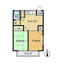 第2須山ハイツ[203号室]の間取り