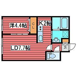 アルファ月寒中央通[5階]の間取り