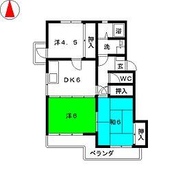 メゾン勝川[4階]の間取り