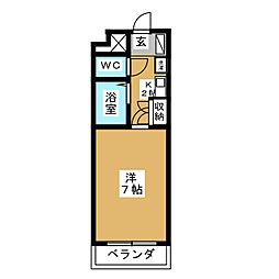 ベルメゾン本田[4階]の間取り