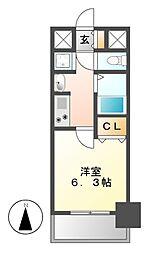 プレサンス大須観音駅前サクシード[12階]の間取り