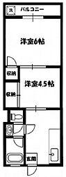 徳丸ニューコーポ[2階]の間取り
