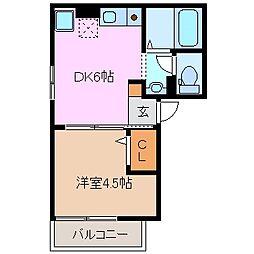 ヤマハハイツ江島本町II[1階]の間取り