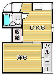 スタジオ108茨木[103号室]の間取り