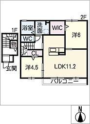 ファミーユA棟[2階]の間取り