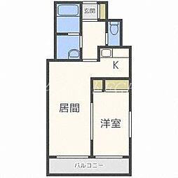 北海道札幌市中央区北七条西26の賃貸マンションの間取り