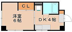 福岡県福岡市東区箱崎1丁目の賃貸マンションの間取り