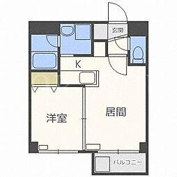 北海道札幌市中央区南十四条西7丁目の賃貸マンションの間取り