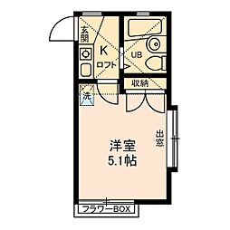 神奈川県綾瀬市寺尾北3丁目の賃貸アパートの間取り