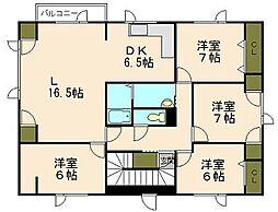 [一戸建] 北海道小樽市山田町 の賃貸【/】の間取り