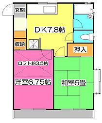 ウィル大和田[2階]の間取り