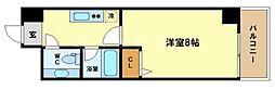HF阿波座レジデンス[5階]の間取り