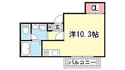 フレグランスKOYO[105号室]の間取り