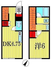 ルミエール北松戸[2階]の間取り