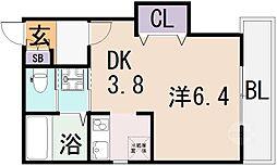 リヴェールU[1階]の間取り