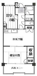メゾン羽沢[D−7号室]の間取り