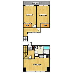 ハイツ東洋[2階]の間取り