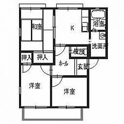 レジデンス鳥取[1階]の間取り
