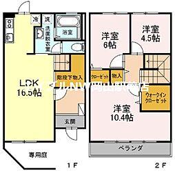 グレイスホーム A棟 1階3LDKの間取り