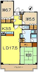 グレイスハイツ5[5階]の間取り