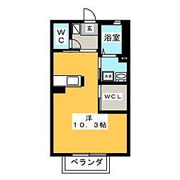 カーサ杉ノ木[2階]の間取り