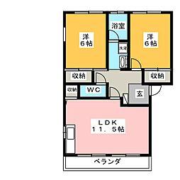 コーポアリス[2階]の間取り